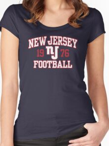 New Jersey Football Women's Fitted Scoop T-Shirt