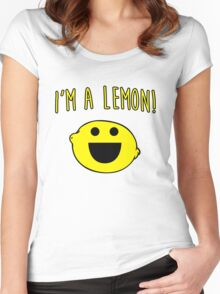 I'm a lemon! Women's Fitted Scoop T-Shirt