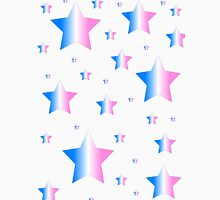 Blue, Pink, and White Stars Unisex T-Shirt