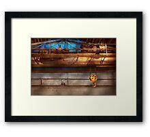 Industrial - The gantry crane Framed Print