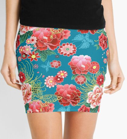 Kimono Design - Now in Hawaiian Punch Colors Mini Skirt