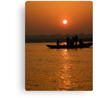 Sunrise on the Ganges Canvas Print