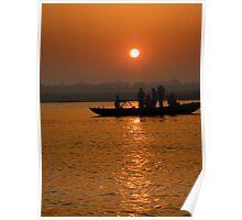 Sunrise on the Ganges Poster