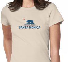 Santa Monica - California.  Womens Fitted T-Shirt