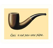 not a pipe Art Print