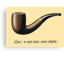 In the style of René Magritte Canvas Print