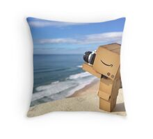 Danbo at the Beach Throw Pillow