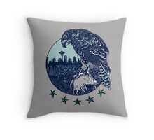 Seattle Seahawks Skyline Throw Pillow