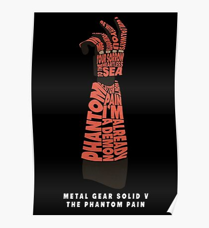 Metal Gear Solid V - Bionic Arm - Typography Poster