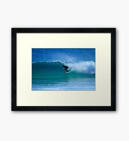Surfing Duranbah Framed Print