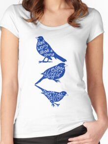 three lil birds. Women's Fitted Scoop T-Shirt