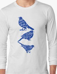 three lil birds. Long Sleeve T-Shirt