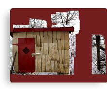The Carmine Door Canvas Print
