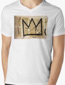 Basquiat Crown Leeches Shirt Mens V-Neck T-Shirt