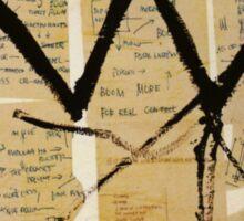 Basquiat Crown Leeches Shirt Sticker