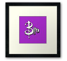 A BITCA? Buffy when she was bad Framed Print