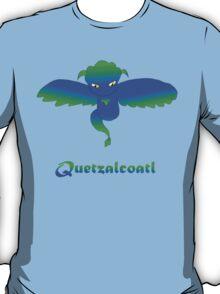 Open Wing Quetzalcoatl Blue T-Shirt