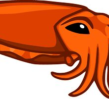 Orange Cuttlefish by Noadi