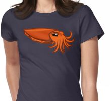 Orange Cuttlefish Womens Fitted T-Shirt
