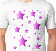 Pink Stars Unisex T-Shirt