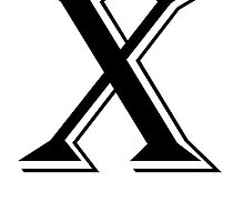 Fancy Letter X by kwg2200
