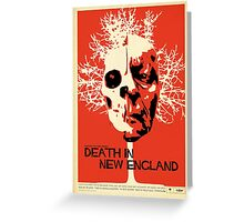 Death In New England Greeting Card