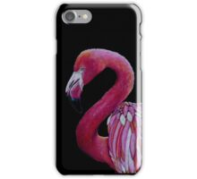 Pink Flamingo in Coloured Pencil iPhone Case/Skin