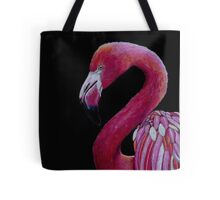 Pink Flamingo in Coloured Pencil Tote Bag