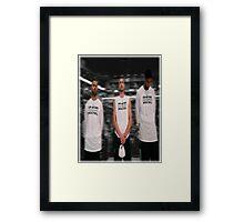 Spurs Big 3 Soft Edge Framed Print