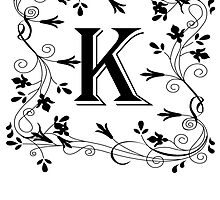 Letter K Leafy Border by kwg2200