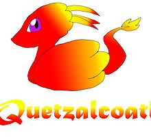 Cute Quetzalcoatl Red by Mars714