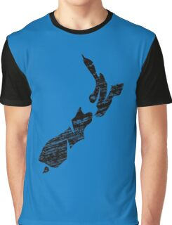 NZ, New Zealand, Alphabet, Country, Map, Islands, North Island, South Island Graphic T-Shirt