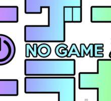 No Game No Life Logo ~ Rainbow Gradient  Sticker