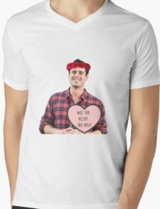 Will you accept this rose? Mens V-Neck T-Shirt