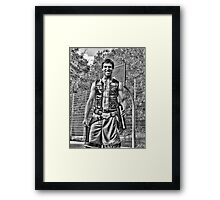 Han Solo on the Court with Party Decanter Framed Print