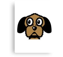 dog funny cute curly Canvas Print