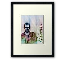 The Ninth Doctor, Doctor Who Chris Eccleston  Framed Print