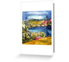 Ireland in spring silk painting Greeting Card