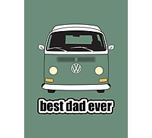 Best Dad Ever Green Early Bay Photographic Print