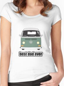 Best Dad Ever Green Early Bay Women's Fitted Scoop T-Shirt