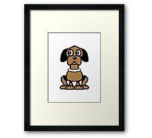 funny sweet lure dog Framed Print
