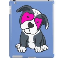 Love Hearts American Pit Bull Terrier Puppy  iPad Case/Skin
