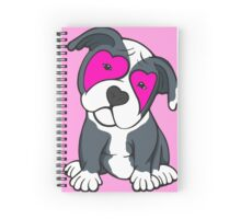 Love Hearts American Pit Bull Terrier Puppy  Spiral Notebook