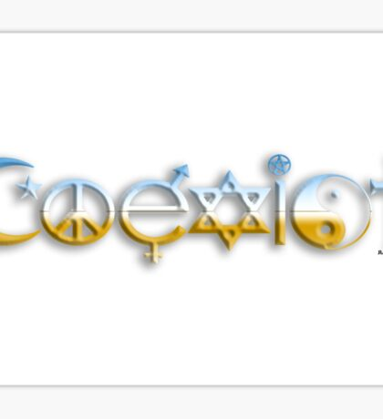 COEXEIST Chrome style Sticker