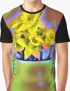 Milk Jug and Daffodils  Graphic T-Shirt