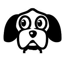 funny cute dog head by Motiv-Lady