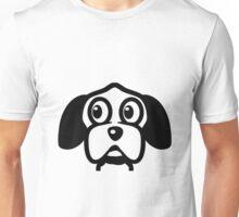 funny cute dog head Unisex T-Shirt