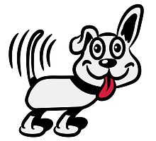 dog funny cute warning by Motiv-Lady