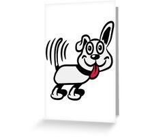 dog funny cute warning Greeting Card