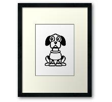 funny cute dog Framed Print